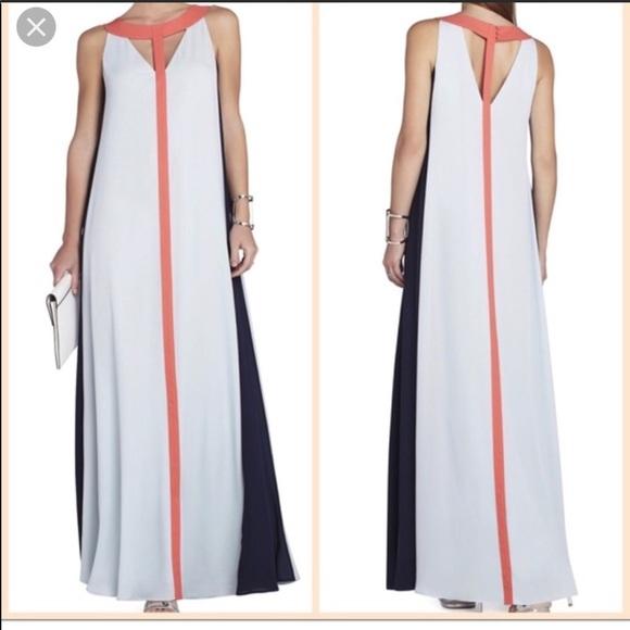 BCBGMaxAzria Dresses & Skirts - BCBG MaxAzria color block maxi dress!